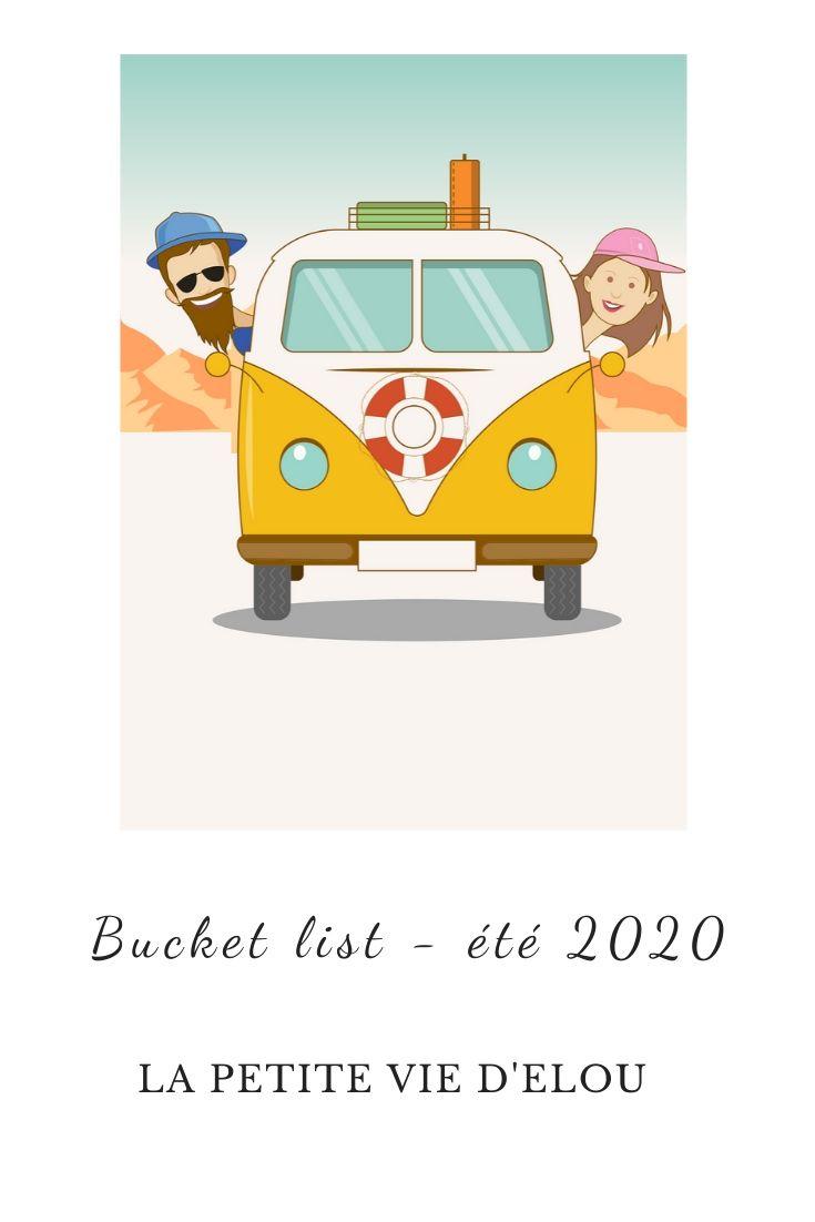 bucket list été 2020